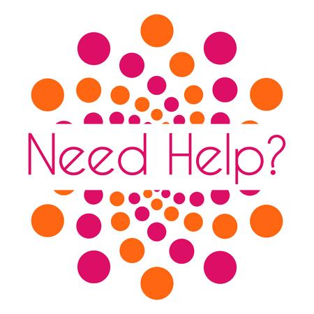 need help: Need Help Pink Orange Dots Circular