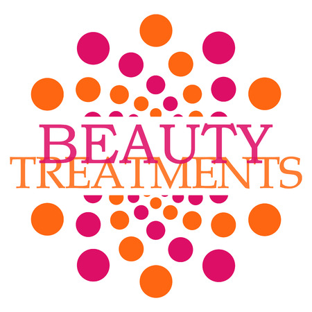 tinting: Beauty Treatments Pink Orange Dots Circular Stock Photo