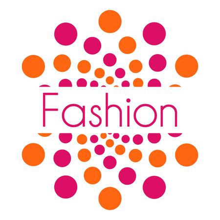 text pink: Fashion Text Pink Orange Dots Circular