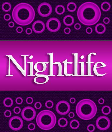 nightlife: Nightlife Purple Pink Rings