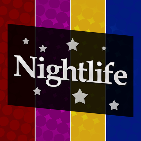 nightlife: Nightlife Colorful Halftone Background Stock Photo