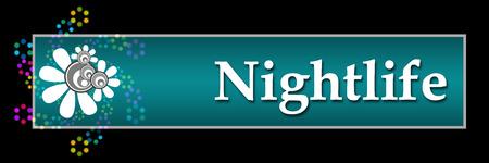 nightlife: Nightlife Black Colorful Neon Horizontal