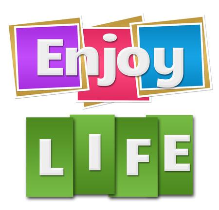 Enjoy Life Colorful Squares Stripes