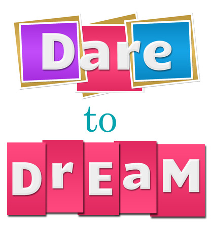 dare: Dare To Dream Colorful Squares Stripes