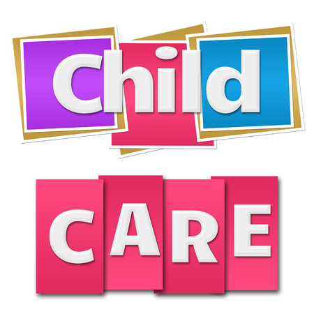 child care: Child Care Colorful Squares Stripes