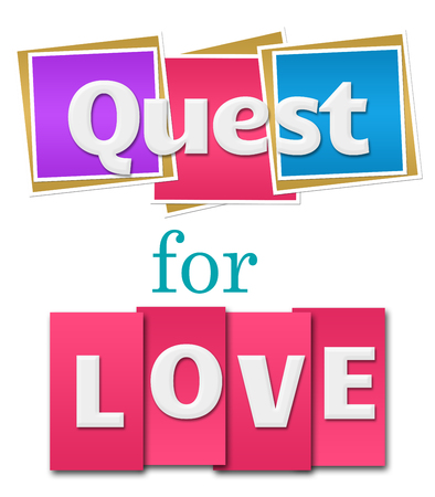quest: Quest For Love Colorful Squares Stripes Stock Photo