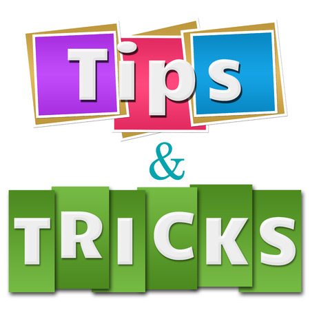hints: Tips And Tricks Colorful Squares Stripes