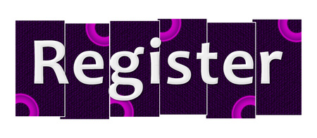 signup: Register Purple Pink Stripes Rings
