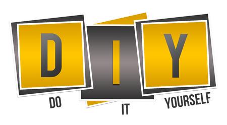 DIY - Do It Yourself Yellow Black Squares Reklamní fotografie