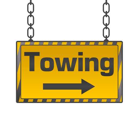 towing: Towing Signboard Yellow Black