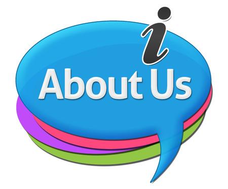 about us: About Us Colorful Comments Symbols