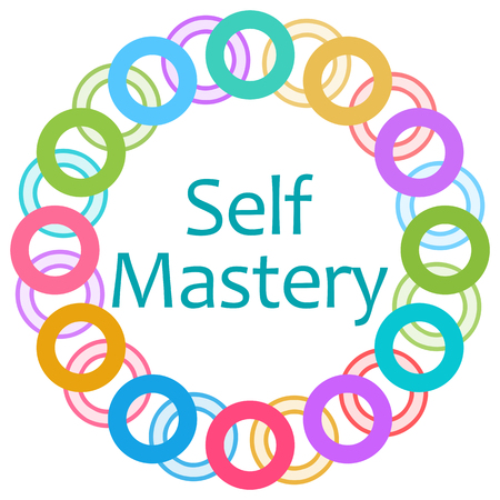 self realization: Self Mastery Colorful Rings Circular