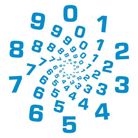 Numbers Circular Blue Standard-Bild