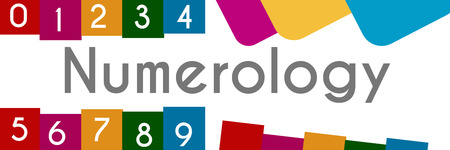 Numerology Colorful Background