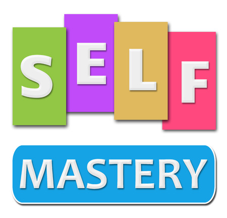 mastery: Self Mastery Colorful Stripes Stock Photo