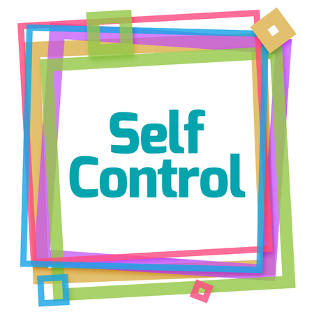 self control: Self Control Text Colorful Frame