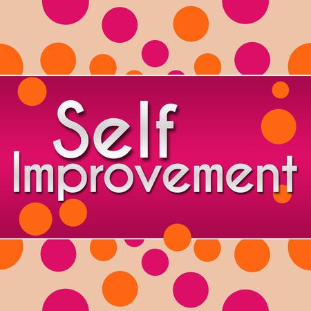 self realization: Self Improvement Pink With Orange Dots Stock Photo