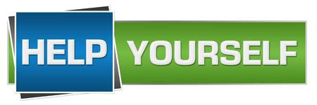 personality development: Help Yourself Green Blue Horizontal