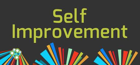 self realization: Self Improvement Dark Colorful Elements