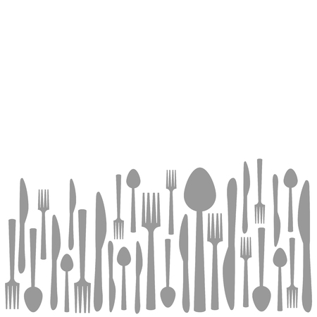 fork knife spoon: Fork Knife Spoon Abstract Gray Background