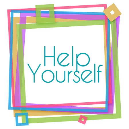 yourself: Help Yourself Colorful Frame