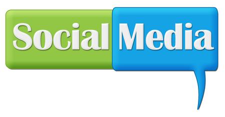 comment: Social Media Green Blue Comment Symbol Stock Photo