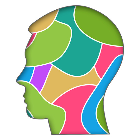 Human Head Colorful Background