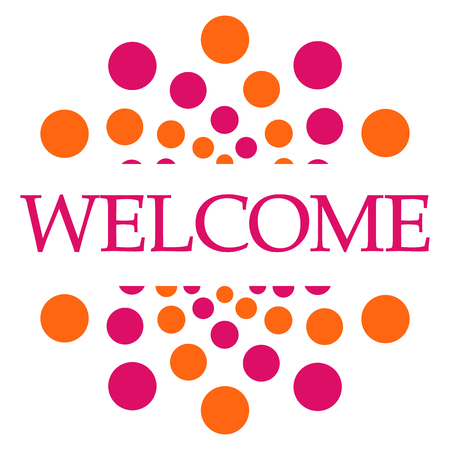 joining the dots: Welcome Pink Orange Dots