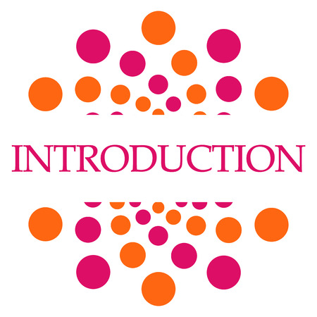 Introduction Pink Orange Dots Square