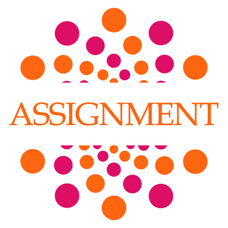 assignment: Assignment Pink Orange Dots Square