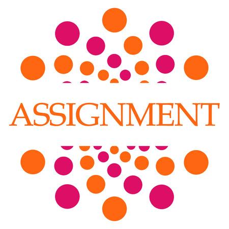 Assignment Pink Orange Dots Square
