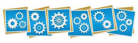factory automation: Gears Blue Blocks