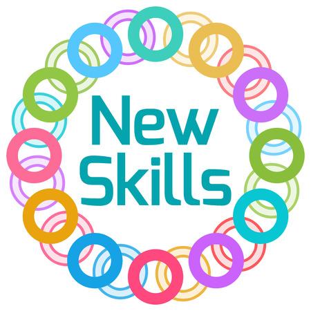 skill: New Skills Colorful Rings Circular Stock Photo