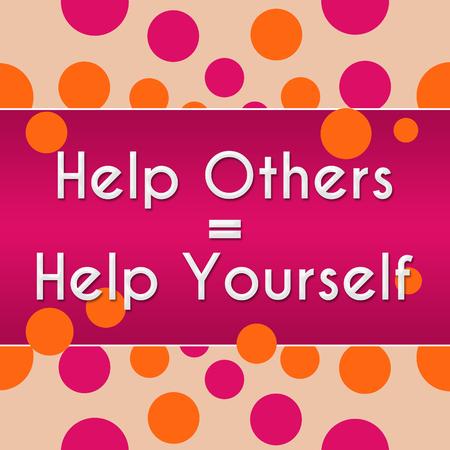 ego�sta: Ayudar a otros a ayudarse a s� mismo Peach Pink Dots Foto de archivo