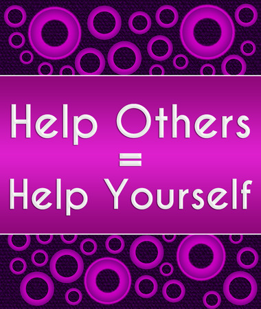 selfish: Help Others Help Yourself Purple Pink Rings