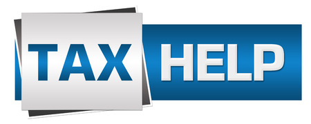 blue grey: Tax Help Blue Grey Horizontal