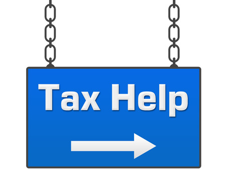 chartered accountant: Tax Help Hanging Signboard