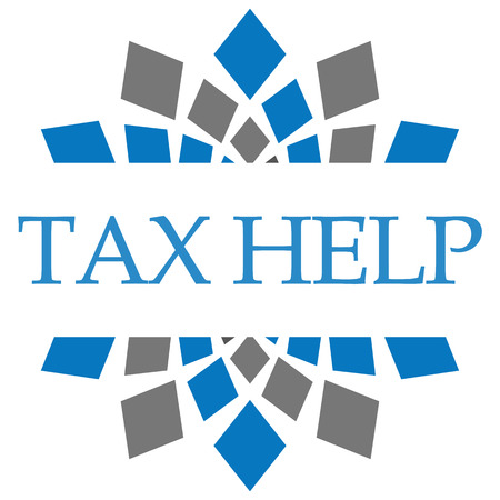 chartered accountant: Tax Help Blue Grey Squares Background