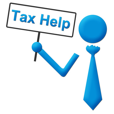 chartered accountant: Tax Help Human Holding Signboard