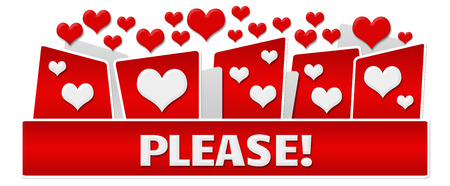 pardon: Please Red Hearts On Top