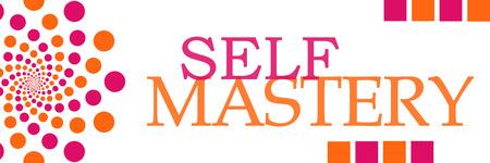 mastery: Self Mastery Pink Orange Dots Horizontal