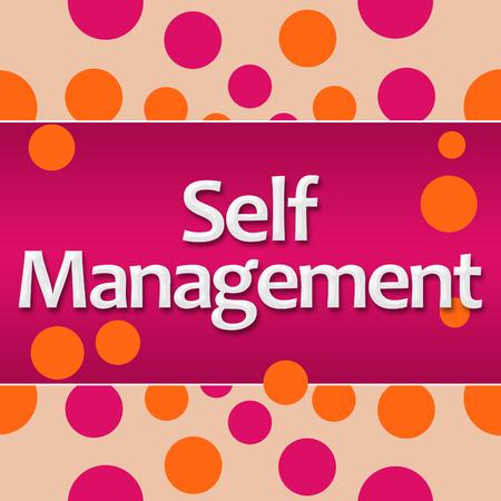 personality development: Self Management Pink Orange Dots