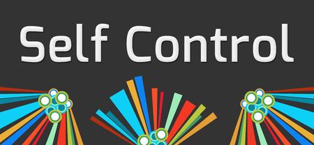 self realization: Self Control Dark Colorful Elements Stock Photo