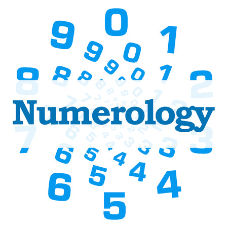 Numerology Blue Numbers Circular Stock Photo