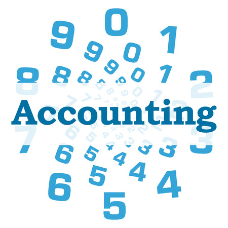 registros contables: Accounting Blue Numbers Circular Foto de archivo