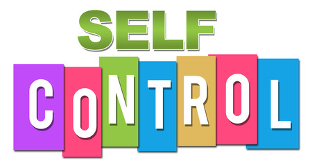 self realization: Self Control Professional Colorful