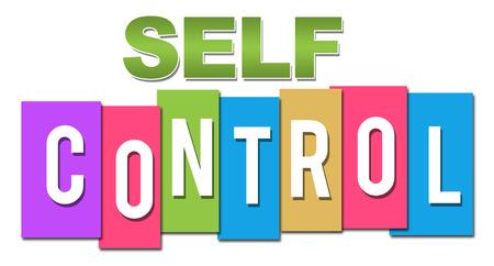 self realization: Self Control Professional Colorful