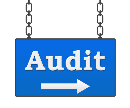 signboard: Audit Signboard Stock Photo