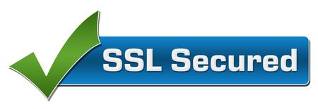 SSL Secured Green Checkmark Horizontal 版權商用圖片