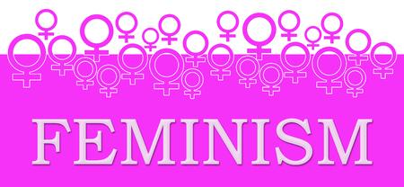 feminism: Feminism Pink Female Symbols On Top